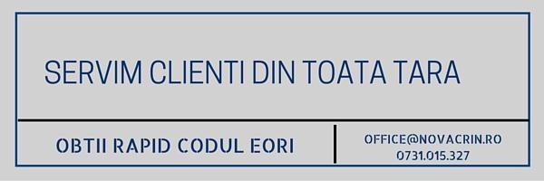Esti din Bucuresti? Solicita codul EORI